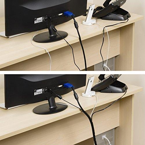 D-Line CTW2.5B Envoltura para gestión de disposición de cables 2,5 m-Negra, 2.5m