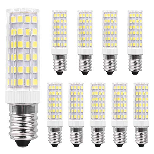 SanGlory 10er Pack E14 LED Birnen,7W / 520LM,ersetzt 60W Halogenlampe Kaltweiß 6000K, 360 ° Strahlwinkel Kühlschranklampe/Wandlampe/Tischleuchte/Kronleuchter