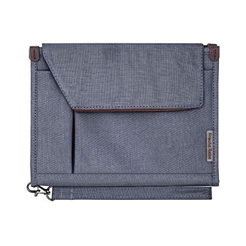 A5 Conference Folder Business Organiser Bag Notepad Carrying Case Document Case A5 Portfolio Organiser (Smoke Grey)
