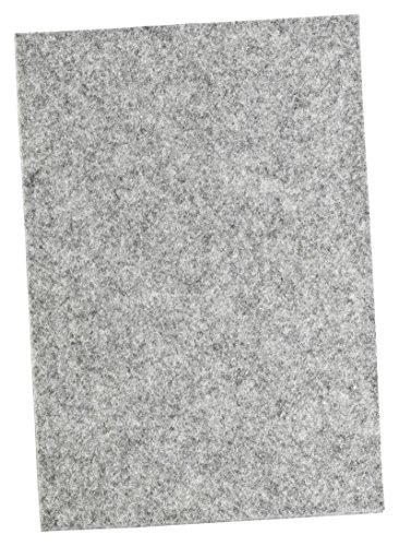 haggiy Filzgleiter - Filzplatten selbstklebend, 5,0 mm stark, grau, DIN A4 (210 x 297 mm)