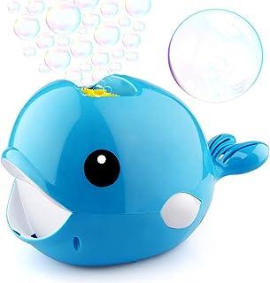 ACHICOO バブルメーカー 自動 クジラ 1分あたり2000泡以上 おもちゃ 子供 男の子 女の子 屋内 屋外 パーティー 結婚式 青