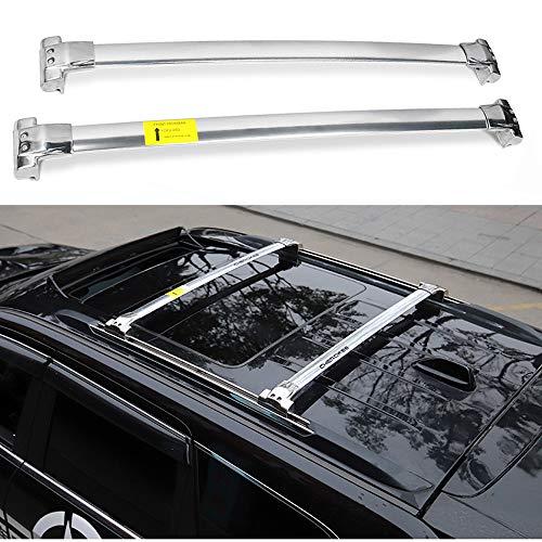 XDDXIAO Auto Dachträger Querträger Für 2014-2018 Jeep Grand Cherokee 2015 2016 2017 Stahl + Aluminiumlegierung Dachreling Original Fabrik Zubehör Schwarz,Weiß