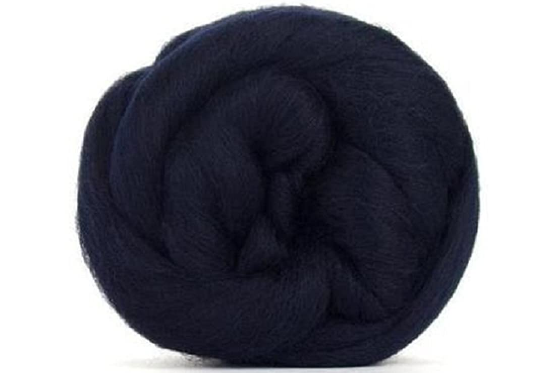 4 oz Paradise Fibers 64 Count Dyed Raven (Black) Merino Top Spinning Fiber Luxuriously Soft Wool Top Roving for Spinning with Spindle or Wheel, Felting, Blending and Weaving