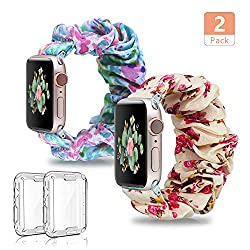 floral scrunchie apple watch bands