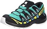 Salomon XA Pro 3D J, Zapatillas Impermeables De Trail Running Y Outdoor Actividades con Sistema Fácil De Lazada, Verde Claro/Negro (Mint Leaf/Black/Evening Primrose), 39 EU