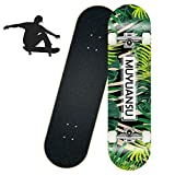 JIAJU Skateboard Kids Beginner pro Skateboard Complete Easy to Navigate Four Wheel Skateboard Kids Complete