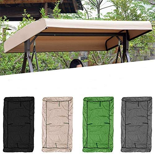 Patio Swing Canopy Replacement Top Cover, Garden Seater Sun Shade Treasures Porch Swing Hammock Protector Furniture Cover (Green)