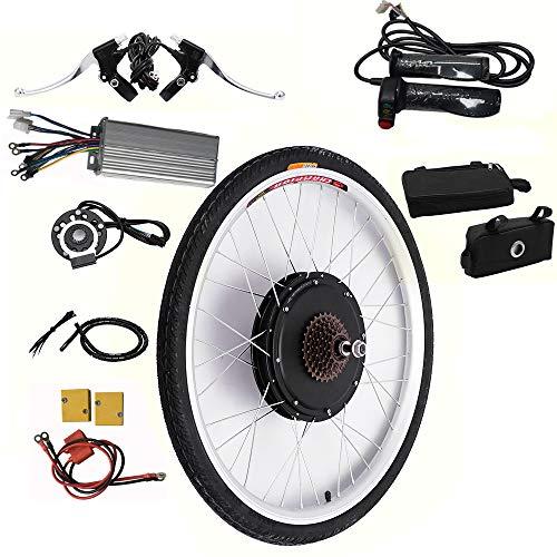 OUKANING Kit de conversión para bicicleta eléctrica de 26 pulgadas, motor trasero de 48 V y 1000 W para bicicleta eléctrica