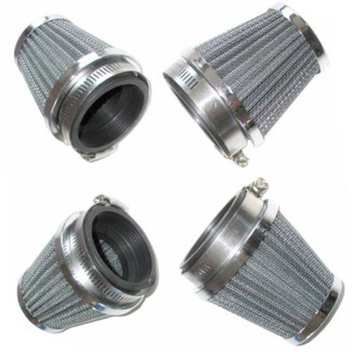 Lot de 4 filtres à air universels à pince 54 mm pour moto, moto, moto, scooter, café, racer, vieille école, tout-terrain