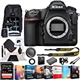 Nikon D850 45.7MP Full-Frame FX-Format Digital SLR Camera Black Body Bundle with 64GB Memory Card, Photo and Video Professional Editing Suite, Camera Sling Backpack and Cleaning Kit