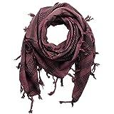 Superfreak Palituch - Totenköpfe mit Säbel burgund - schwarz - 100x100 cm - Pali Palästinenser Arafat Tuch - 100% Baumwolle