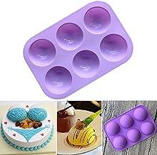 FRDYB Small Semi-circle Silicone Pudding Mold Silicone Cake Mold Handmade Soap Mold Super Q Chocolate Mold Round 8A0534 (Color : Purple)