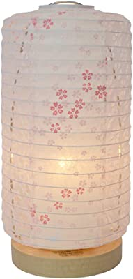 美濃和紙製 テーブルライト スモールライト ミニスタンド tawara L タワラ エル 花うさぎピンク×小梅パープル 手作り 間接照明 和風照明 和紙照明