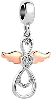 Heart Angel Wings Charm Infinity Charms Beads for Bracelets