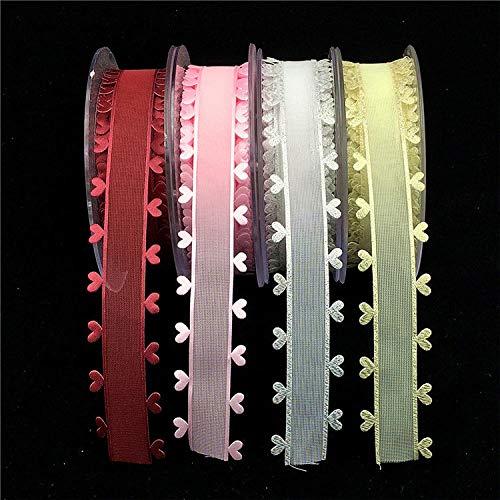 Regalo Cintas de Artesanías Decoración Craft Ribbon envoltura regalo Hechos A Mano Cinta Raso Grosgrain Ribbon Cinta de encaje de boda para el día de San Valentín-mix_2.5cm