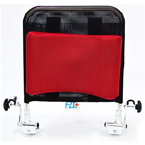 Lekoc 車椅子用ヘッドレスト 背もたれクッション U型枕 角度調整可能 低反発 通気性 トイレチェア適用 (レッド)