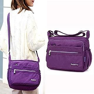 HAWEEL Anti-Theft Classic Retro Messenger Travel Leisure Fashion Nylon Waterproof Slant Shoulder Bag(Dark Blue) Sling Crossbody Mini Purse One Size