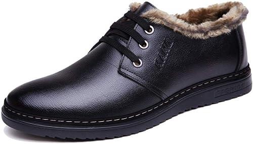 MYXUA Herrenschuhe Derby Business Casual Schuhe Für Herren Warme Atmungsaktive Baumwollschuhe