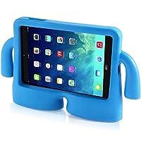 Vendopolis Funda Soporte para iPad 2 3 4 Ideal NIÑOS DE Goma iBuy iGuy ANTICAÍDAS FUNCIÓN DE Atril Funda DE Espuma EVA (Azul)