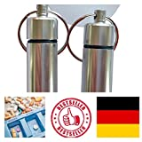 molinoRC 2X Geocaching Versteck Nano   Pillendose Pillencontainer   Alu Container Micro   Cache Silber   4,5 x 1,3 cm BRD