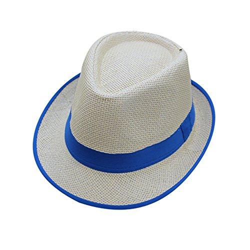 LEEDY Schirmmütze Sonnenschutz Hut Hüte Strohhut Sonnenhut Jazz Hut Strandhut Sommerhut Panamahut Strand Hut Damen Herren