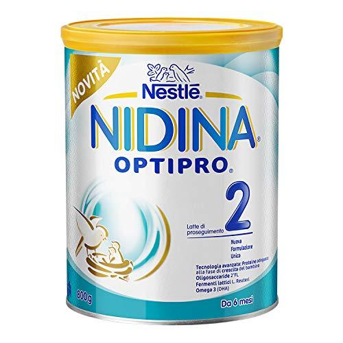 Nestlé Nidina OPTIPRO 2 HM-O da 6 Mesi Latte di Proseguimento in Polvere, Latta da 800 g