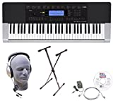Casio Inc. CTK4400 EPA 61-Key Premium Keyboard Package with Headphones, Stand, Power Supply, 6-Foot...