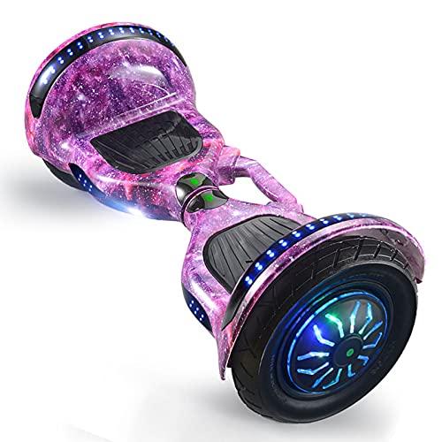 RENSHUYU Hoverboards pour Enfants, avec Haut-Parleur Bluetooth, Roue Lumineuse, Belles lumières LED, Hoverboards pour Enfants, Adolescents et Adultes