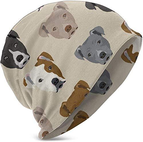 Gorro de bebé NA para bebé, de algodón suave y cálido (perros de taco y burritos), Infantil, Cabezales Pitbull, talla única