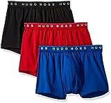 Hugo Boss Men's 3-Pack Cotton Trunk, New Red/Blue/Black, Large