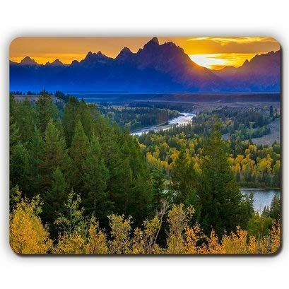 Mouse Pad,Bright Sunset Nature,Game Office Mouse pad