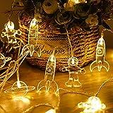 XINGHE LED Cadena Luces, Luces de Cadena de Cortina, Alimentado por batería, para Decorativas, Navidad, Habitacion, Fiesta, Jardín, Bodas, Césped (Blanco Cálido, 3M 20 LED)