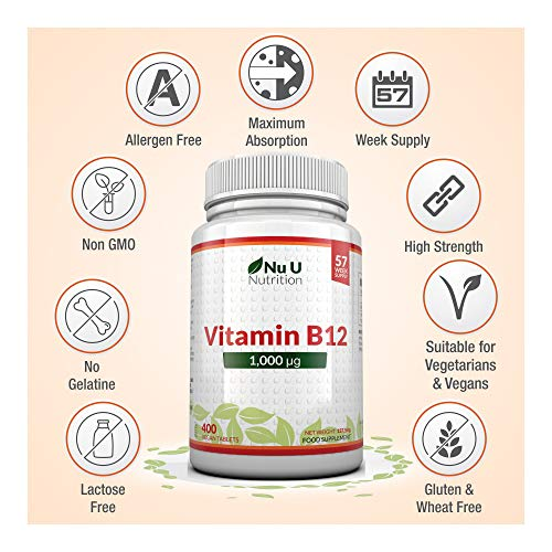 Vitamin-B12-1000mcg-High-Strength-B12-Methylcobalamin-400-Vegetarian-Vegan-Tablets-13-Month-Supply-Contributes-to-The-Reduction-of-Tiredness-Fatigue-Made-in-The-UK-by-Nu-U-Nutrition
