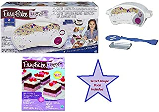 Easy Bake Oven Starter Kit Bundle includes Ultimate Oven Star Edition + Red Velvet & Strawberry Cake refill pack + Secret Recipe Book to make your own unlimited pre-made mixes (50 + Recipes)