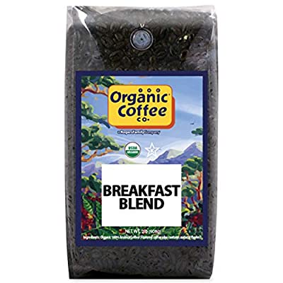 The Organic Coffee Co. DECAF French Roast Whole Bean Coffee 2LB (32 Ounce) Dark Roast Natural Water Processed USDA Organic