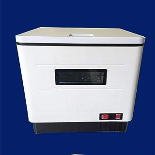 JILEIYMX Lavavajillas, Compacto Y Pequeño Diseño, 6 Programas, Panel Táctil, De Acero Inoxidable, De Desinfección Y De Cristal, Modo Eco