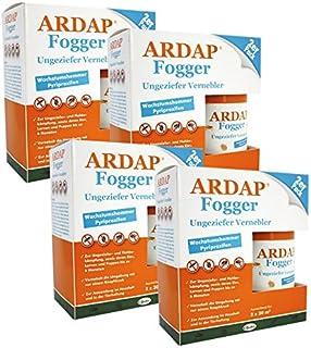 Quiko 4 x 2 x 100ml Ardap Fogger Doppelpack Ungeziefer Vernebler für 8 Räume je 30 m2