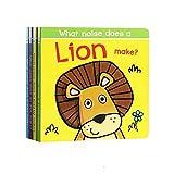 GonFan Los Libros para niños For niños Reservar Educación de la Primera Ilustración Inglés Libro de imágenes Tirando de órganos Juego Inglés cartón Libro (Color : Multi-Colored, Size : 18x18cm)