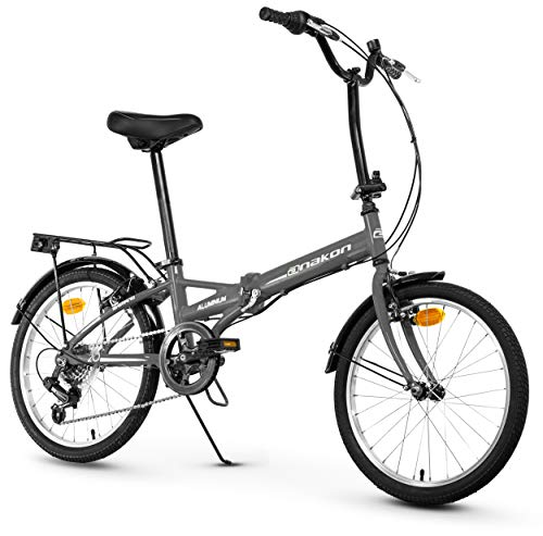 Anakon Folding Sport, Bicicletta Unisex Adulto, Grigia