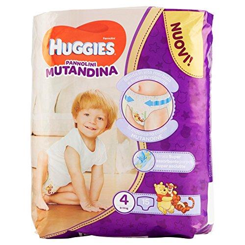 Huggies PANNOLINI Mutandina Einweg-Windeleinlagen, Kinder/Mädchen, Windel, 9kg, 14kg, mehrfarbig, 15Stück