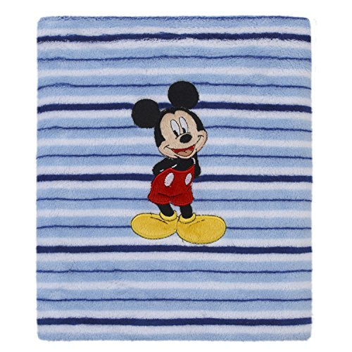 Disney Minnie Mouse Love to Love Pink Super Soft Coral Fleece Baby Blanket with Applique, Pink, White, Black, Rosegold