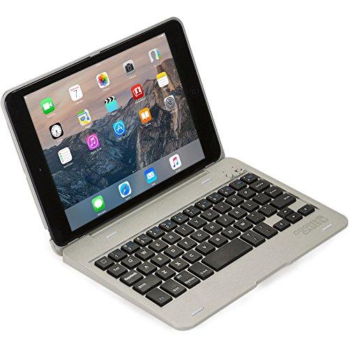 Cooper Kai SKEL P1 [Bluetooth Wireless Keyboard] Case for iPad Mini 1 2 3 | Portable Laptop MacBook Clamshell Case, 13 Shortcut Function Keys (Silver)