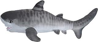 "Wild Republic Tiger Shark Plush, Stuffed Animal, Plush Toy, Gifts for Kids, Mini Living Ocean, 12"""