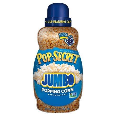Pop Secret Big and Fluffy Jumbo Popping Corn (30 oz Jar) Free 1/2 Cup Measuring Cup