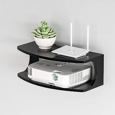 CUIS- Nivel 2 Router Caja de almacenaje, Estante Flotante for TV ...