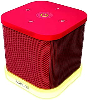 IGLOWSOUND CUBE Bluetooth Speaker - Red