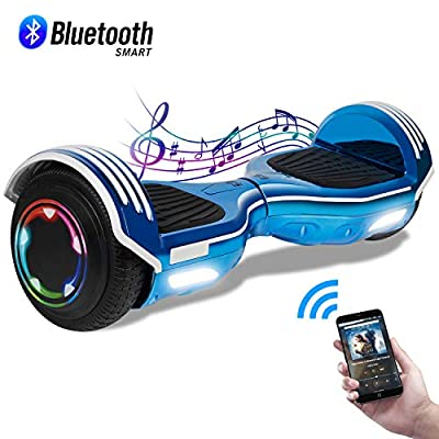 "CBD Hoverboard for Kids, 6.5"" Electric Self Balancing Scooter, Hoverboard with Bluetooth Speaker and LED Lights for Adults, UL 2272 Certified Hover Board (Bluetooth A05-Blue)"