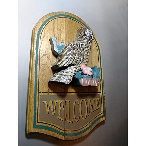 Wandhouder Welkomstbord Decor Creative 3D vogel hout grote wand-decoratie-kunst Welkom Plaque Sweet Home eenvoudig deur-teken teken voor binnen en buiten voordeur voor tuin bar cafe store Ga
