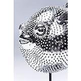 Kare Design Dekofigur Blowfish, silbernes Accessoire in Form eines Kugelfisches, auffällige und niedliche Dekoration Figur in Chrom, (H/B/T) 29 x 24 x 16 cm, Silber - 2