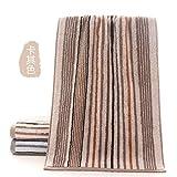 BiAnHua Handtuch absorbierende Weiche und Bequeme Reise Tragbare regenerierte Zellulose Holzfaser Baumwolle Gestreiften Waschen Handtuch -